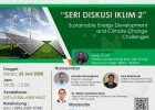 Seri Diskusi Iklim 2 : Sustainable Energy Development and Climate Change Challenges